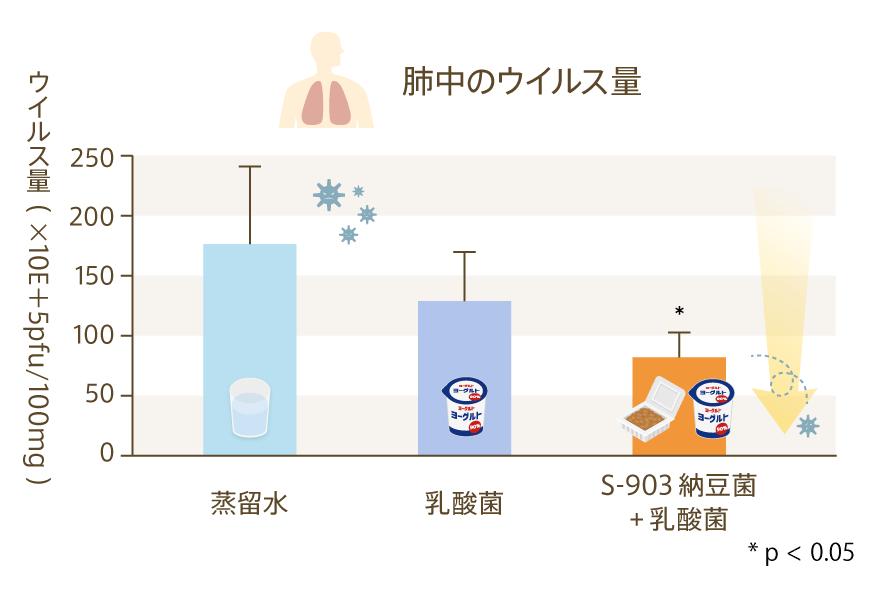 肺中のウイルス量